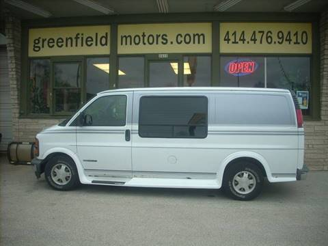 2002 GMC Savana Cargo for sale at GREENFIELD MOTORS in Milwaukee WI