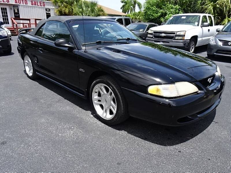 1998 Ford Mustang for sale at DONNY MILLS AUTO SALES in Largo FL