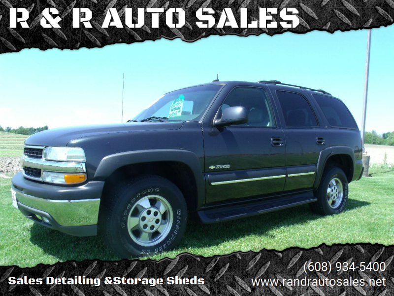 2003 Chevrolet Tahoe for sale at R & R AUTO SALES in Juda WI