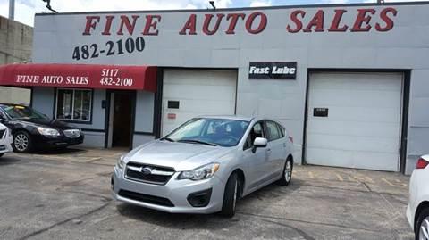 2014 Subaru Impreza for sale at Fine Auto Sales in Cudahy WI