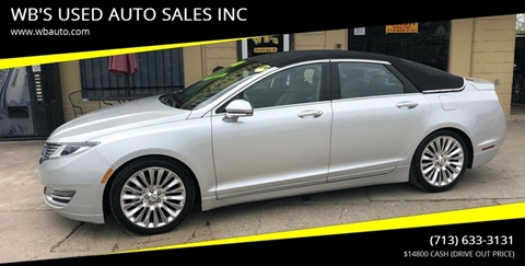 2013 Lincoln Mkz For Sale >> Lincoln Mkz For Sale In Houston Tx Wb S Used Auto Sales Inc