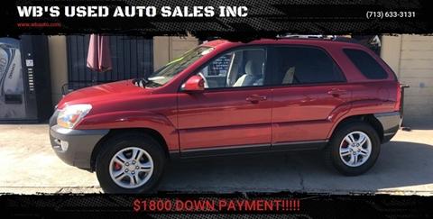 Houston Used Auto Sales >> Kia Sportage For Sale In Houston Tx Wb S Used Auto Sales Inc