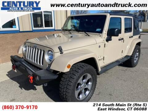 2016 Jeep Wrangler Unlimited for sale at Century Auto and Truck Center in East Windsor CT