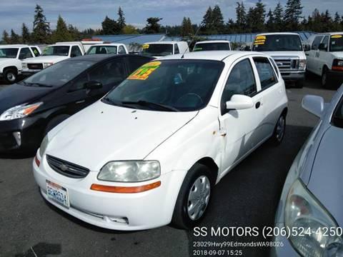 2004 Chevrolet Aveo for sale at SS MOTORS LLC in Edmonds WA