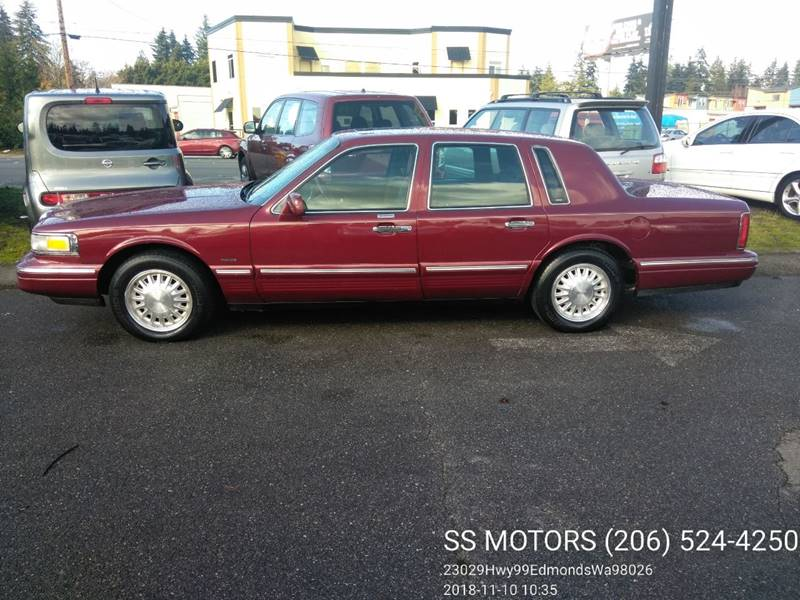 1996 Lincoln Town Car Cartier 4dr Sedan In Edmonds Wa Ss Motors Llc