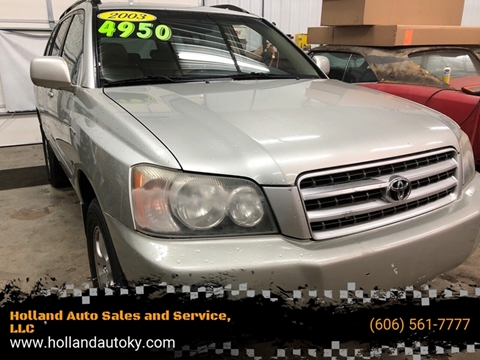 2003 Toyota Highlander for sale at Holland Auto Sales and Service, LLC in Somerset KY