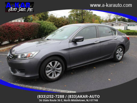 2014 Honda Accord for sale at A-KAR AUTO SALES INC in North Middletown NJ