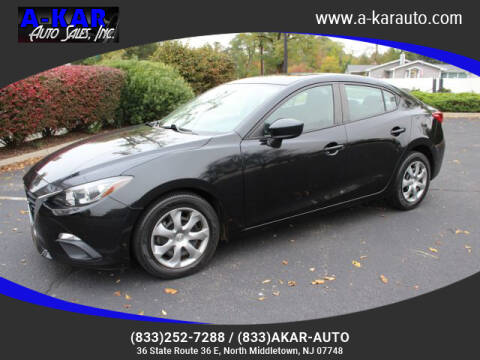 2016 Mazda MAZDA3 for sale at A-KAR AUTO SALES INC in North Middletown NJ