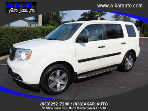 2015 Honda Pilot for sale at A-KAR AUTO SALES INC in North Middletown NJ