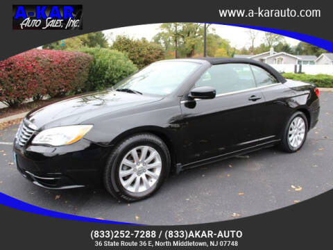 2012 Chrysler 200 Convertible for sale at A-KAR AUTO SALES INC in North Middletown NJ