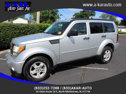 2009 Dodge Nitro for sale at A-KAR AUTO SALES INC in North Middletown NJ