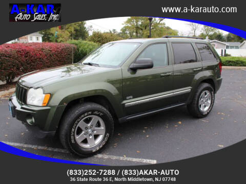 2006 Jeep Grand Cherokee for sale at A-KAR AUTO SALES INC in North Middletown NJ
