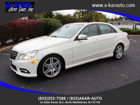 2011 Mercedes-Benz E-Class for sale at A-KAR AUTO SALES INC in North Middletown NJ