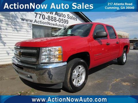 2012 Chevrolet Silverado 1500 for sale at ACTION NOW AUTO SALES in Cumming GA