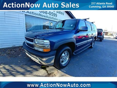 2002 Chevrolet Suburban for sale at ACTION NOW AUTO SALES in Cumming GA