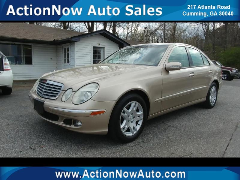 2006 Mercedes Benz E Class For Sale At ACTION NOW AUTO SALES In Cumming