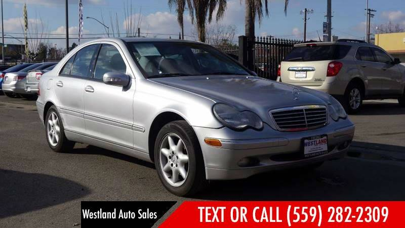 2002 Mercedes Benz C Class For Sale At WESTLAND AUTO SALES In Fresno CA