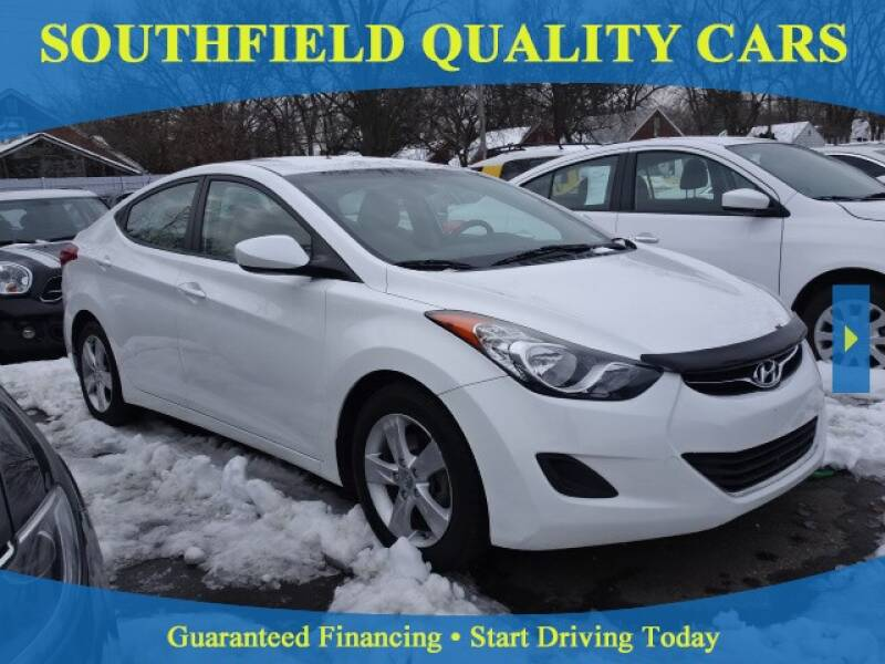 2013 Hyundai Elantra for sale at SOUTHFIELD QUALITY CARS in Detroit MI