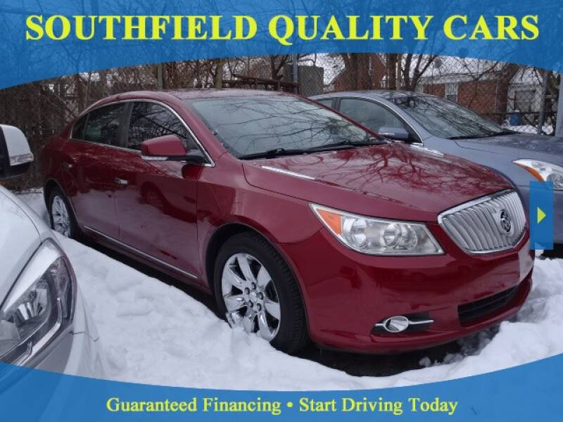 2010 Buick LaCrosse for sale at SOUTHFIELD QUALITY CARS in Detroit MI