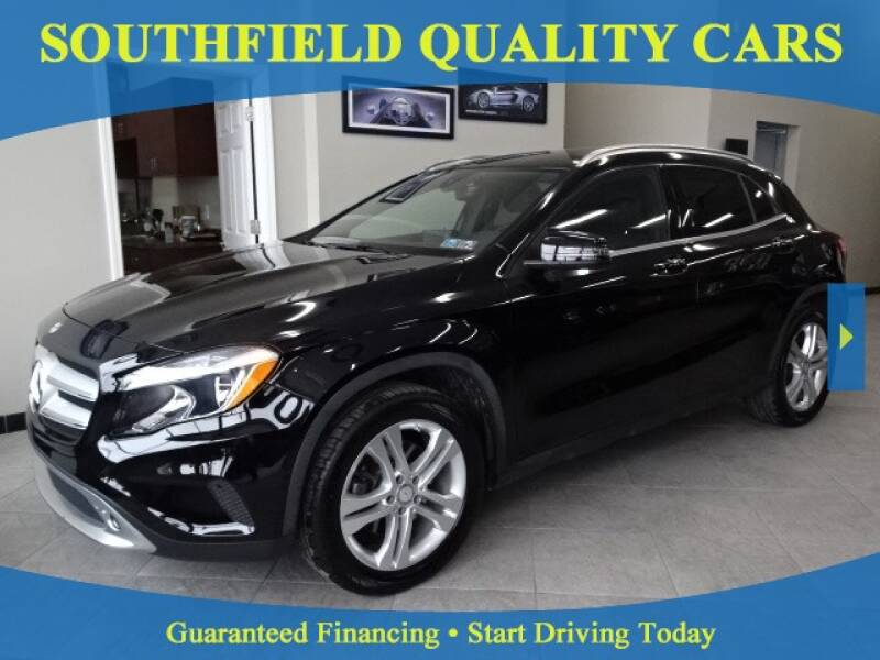 2016 Mercedes-Benz GLA for sale at SOUTHFIELD QUALITY CARS in Detroit MI