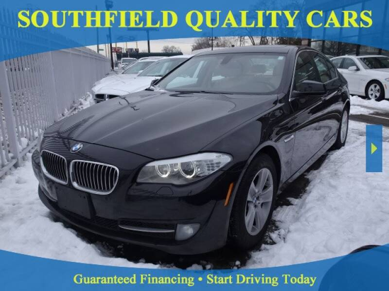 2013 BMW 5 Series for sale at SOUTHFIELD QUALITY CARS in Detroit MI