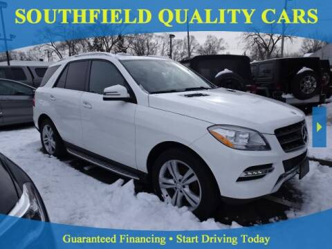 2014 Mercedes-Benz M-Class for sale at SOUTHFIELD QUALITY CARS in Detroit MI