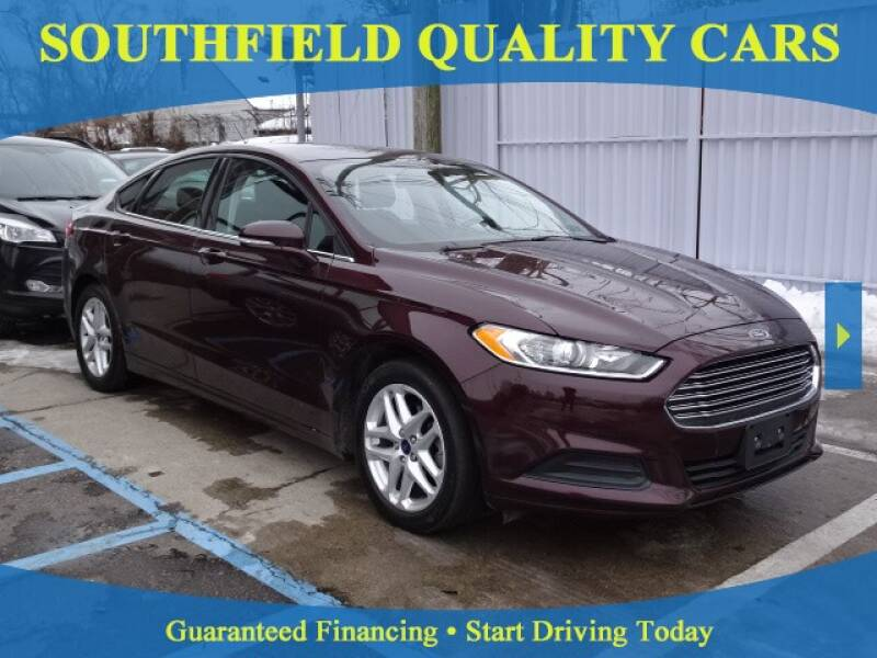 2013 Ford Fusion for sale at SOUTHFIELD QUALITY CARS in Detroit MI