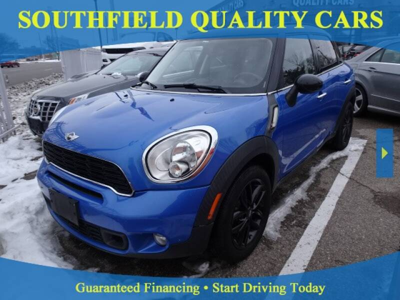 2012 MINI Cooper Countryman for sale at SOUTHFIELD QUALITY CARS in Detroit MI