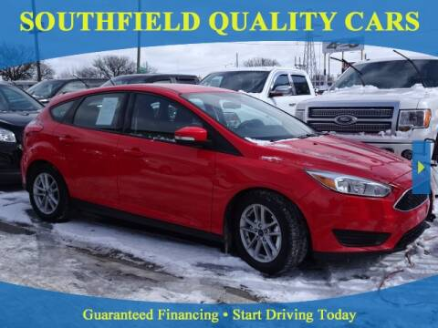 2017 Ford Focus for sale at SOUTHFIELD QUALITY CARS in Detroit MI