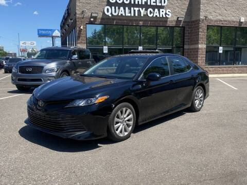 2019 Toyota Camry for sale at SOUTHFIELD QUALITY CARS in Detroit MI