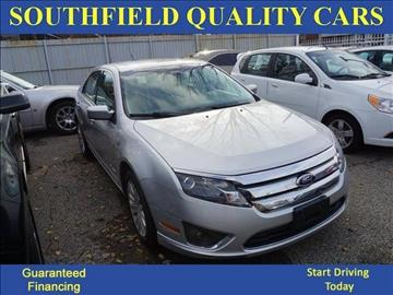 2011 Ford Fusion Hybrid for sale at SOUTHFIELD QUALITY CARS in Detroit MI