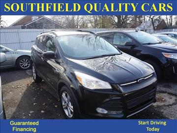 2013 Ford Escape for sale at SOUTHFIELD QUALITY CARS in Detroit MI