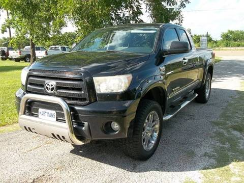 2010 Toyota Tundra for sale at Hartman's Auto Sales in Victoria TX