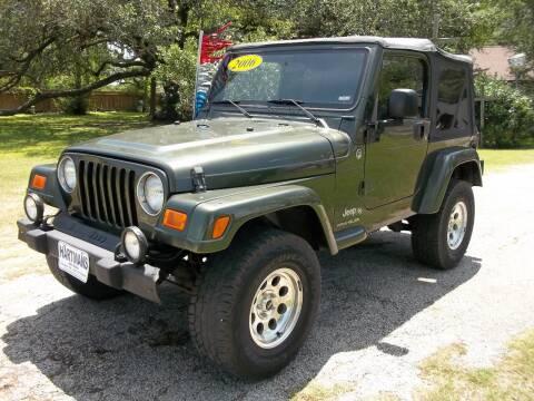2006 Jeep Wrangler for sale at Hartman's Auto Sales in Victoria TX