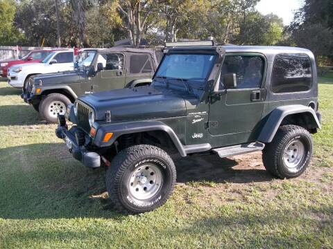 1997 Jeep Wrangler for sale at Hartman's Auto Sales in Victoria TX