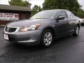 2010 Honda Accord for sale at G L TUCKER AUTO SALES in Joplin MO