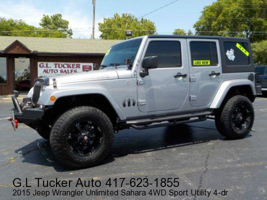 2015 Jeep Wrangler Unlimited for sale at G L TUCKER AUTO SALES in Joplin MO