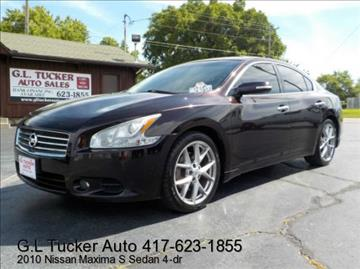 2010 Nissan Maxima for sale at G L TUCKER AUTO SALES in Joplin MO