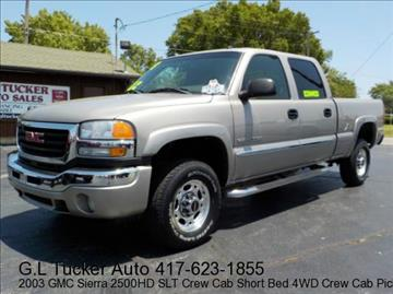 2003 GMC Sierra 2500HD for sale at G L TUCKER AUTO SALES in Joplin MO