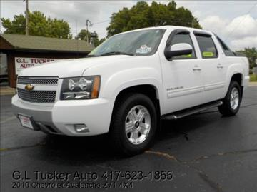 2010 Chevrolet Avalanche for sale at G L TUCKER AUTO SALES in Joplin MO