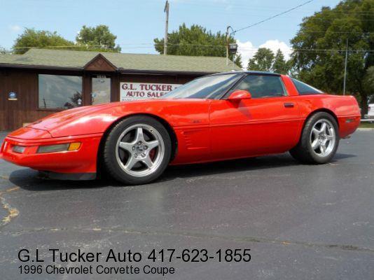 1996 Chevrolet Corvette for sale at G L TUCKER AUTO SALES in Joplin MO