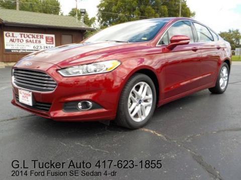 2014 Ford Fusion for sale at G L TUCKER AUTO SALES in Joplin MO