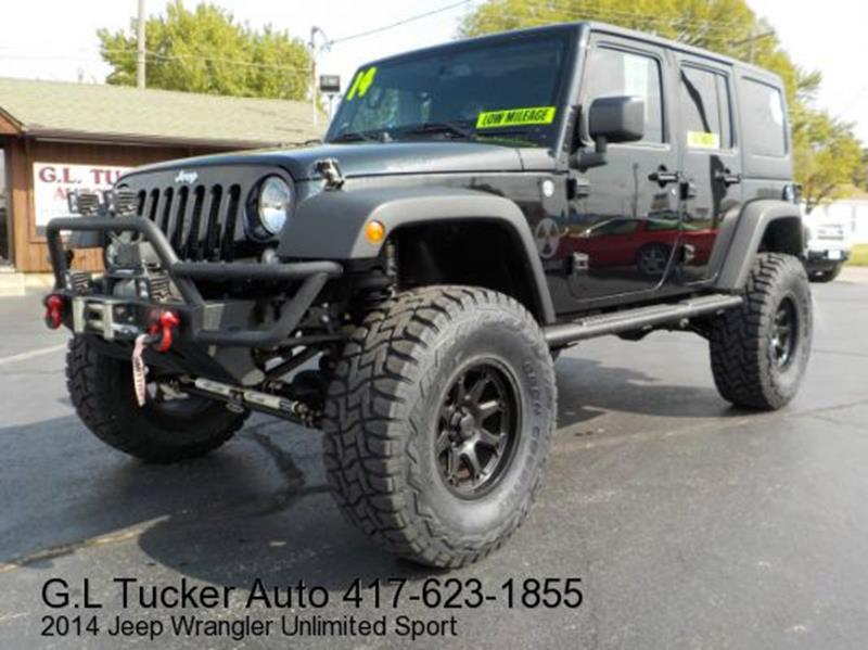 2014 Jeep Wrangler Unlimited for sale at G L TUCKER AUTO SALES in Joplin MO