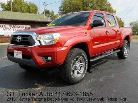2013 Toyota Tacoma for sale at G L TUCKER AUTO SALES in Joplin MO