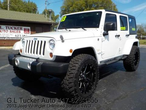 2013 Jeep Wrangler Unlimited for sale at G L TUCKER AUTO SALES in Joplin MO