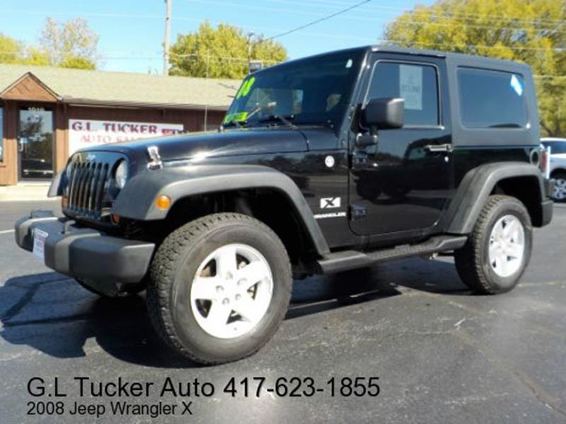 2008 Jeep Wrangler for sale at G L TUCKER AUTO SALES in Joplin MO