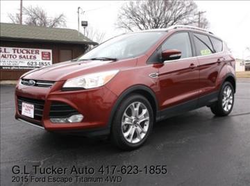 2015 Ford Escape for sale at G L TUCKER AUTO SALES in Joplin MO