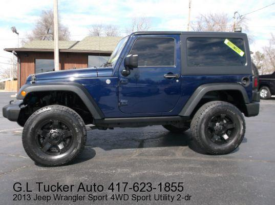2013 Jeep Wrangler for sale at G L TUCKER AUTO SALES in Joplin MO