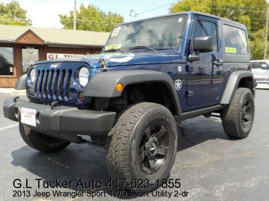 2013 Jeep Wrangler for sale at G L TUCKER AUTO SALES in Joplin MO