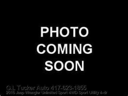 2016 Jeep Wrangler Unlimited for sale at G L TUCKER AUTO SALES in Joplin MO